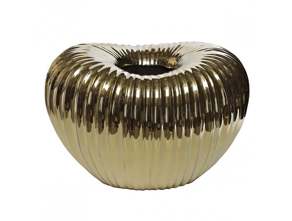 Ваза керамическая золотая 1