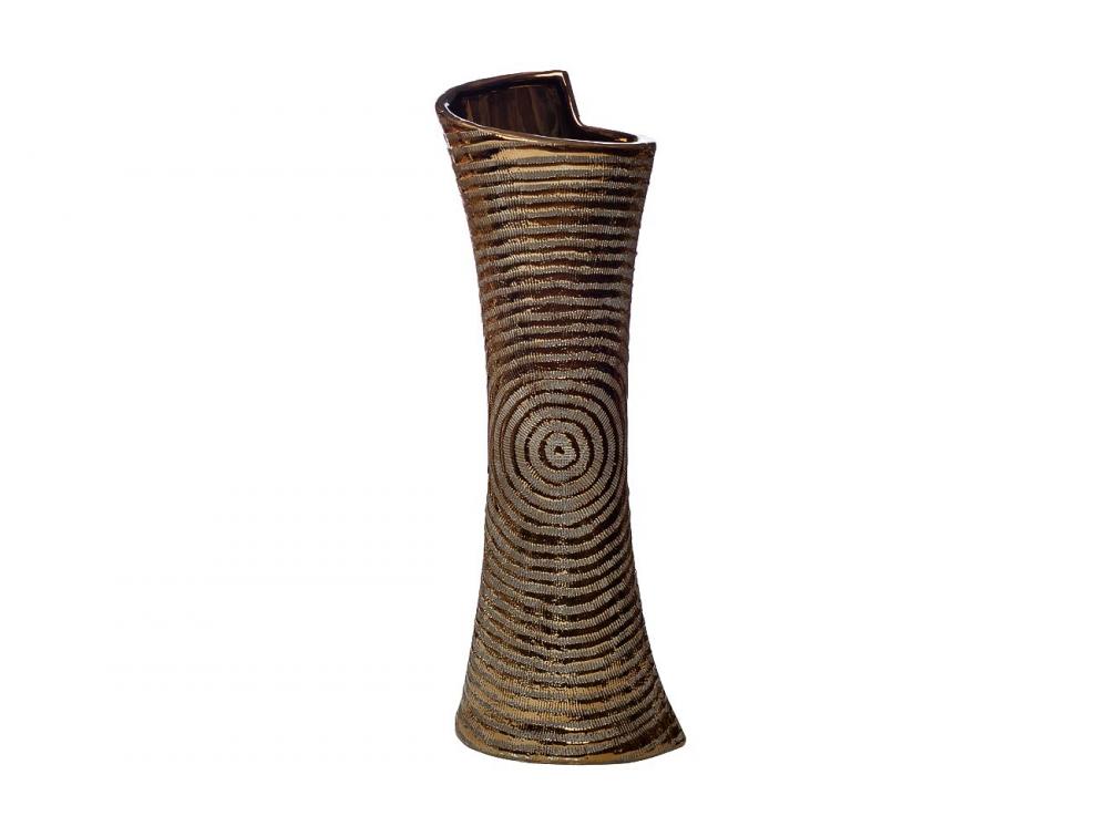 Ваза керамическая золотая 4
