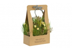 Полевые цветы стабилизированные в коробке